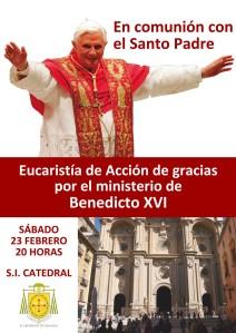 Despedida Benedicto XVI. Cartel
