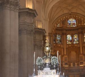 Custodia del Santísimo en la S.I. Catedral de Granada.