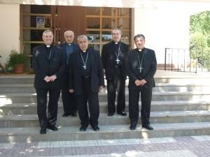 Algunos de los Obispos de la Provincia Eclesiástica Granada, y el Vicario General, D. Manuel Reyes.