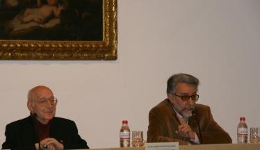 Enrique Seijas, junto a D. Jesús Blanco.