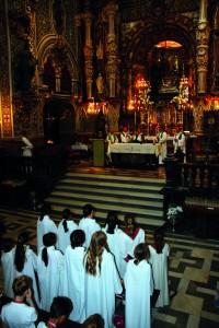 Coros de Francia reunidos en la iglesia de Ntra. Sra. de las Angustias.