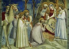 Adoración de los Magos, 1304-06. Giotto di Bondone.