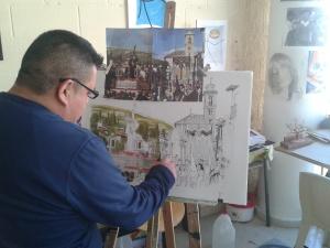 Internos de Albolote trabajando en una exposicion 4