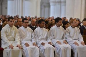 Los seminaristas que recibieron los Ministerios de acólito y lector.