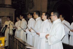 Seminaristas de la Diócesis de Granada en la Catedral.
