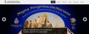 Propuesta para el Cartel de la Gran Peregrinación Mariana, obra de Manuel Lirola, basada en la Coronación Canónica de la Virgen.