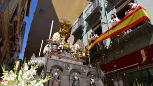 Procesión de la Custodia por las calles de Granada.