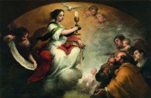 """""""El triunfo de la Eucaristía"""", de Bartolomé Esteban Murillo. Óleo sobre tela. Foto: Museo del Prado."""
