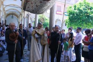 Procesión del Corpus en la Abadía del Sacromonte.