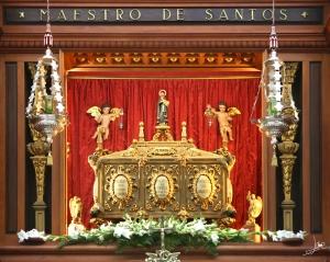 Sepulcro de San Juan de Ávila en el Santuario en Montilla, donde celebraron la Eucaristía los peregrinos.