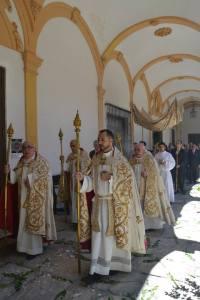 Procesión eucarística en la Abadía del Sacromonte.