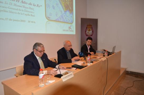 Antonio Martín, D. Manuel Reyes y Luis Javier López en el acto de clausura.