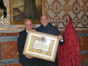Mariano Luján y el hermano Julián Sánchez Bravo, Superior de San Juan de Dios Provincia Bética