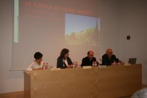 De der. a izq.: D. Juan Sánchez Ocaña, D. Alberto Espinar, Olga Tabatadze y Ana Franco.
