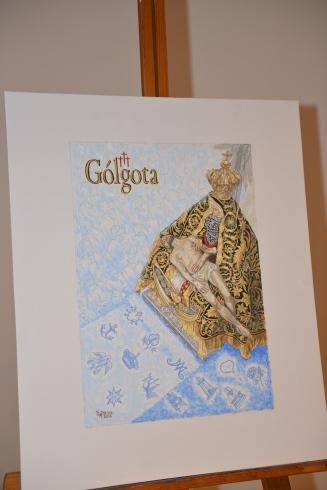 """Linezo de Rafael Reina que ilustra la portada de """"Gólgota"""""""
