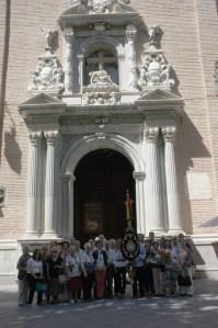 Grupo de peregrinos procedentes de Priego de Córdoba.