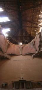 Estado del techo de la iglesia de San Nicolás.
