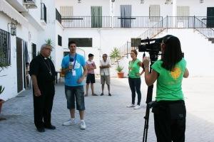 El Arzobispo de Granada, durante la entrevista.
