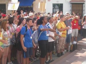 Jóvenes peregrinos Rocío